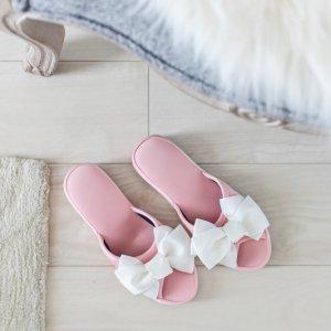 リボンヒールスリッパ�(ピンク)/フォーマル お客様用 サロン 母の日 参観日
