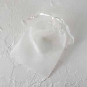 オーガンジージュエリーバッグ(L) (ホワイト)