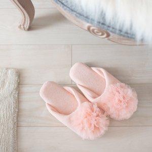 フラワールームシューズ(ピンク)/フォーマル お客様用 サロン 母の日 参観日