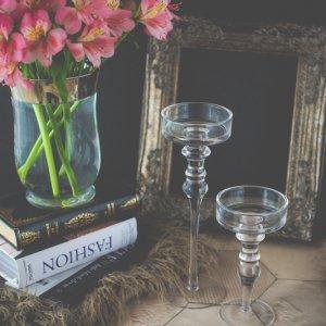 グラマラス�(クリア) / ガラス グラス 置物 キャンドルスタンド ヨーロピアン