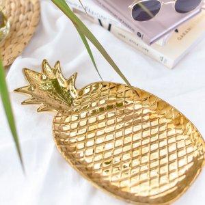 パイナップル型トレー / アクセサリー ジュエリー ミニトレイ ゴールド パイン