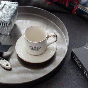 サークルトレー(ブラック) / アンティーク調 トレイ おぼん レトロ カフェ風