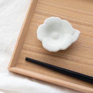 瀬戸焼花型豆皿(ホワイト)