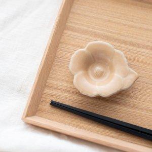 瀬戸焼花型豆皿(ベージュ)