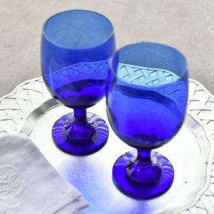 グランブルーペアグラス/ワイングラス おしゃれ プレゼント 結婚祝い