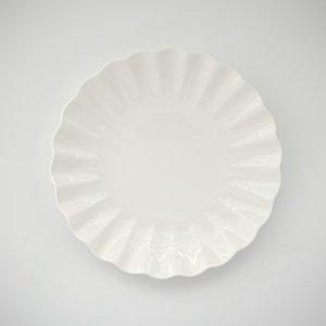 フィオーラ24cmプレート/白磁 白い食器 無地