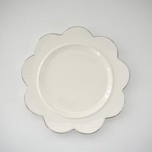 花型プレート(無くなり次第終了)/白磁 白い食器 無地