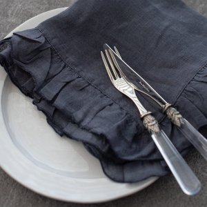 ボルゴデルトヴァーリ(フリルナプキン)(graphite・ネイビー)/イタリアブランド