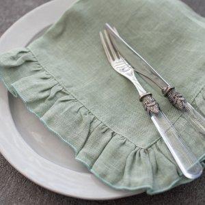 ボルゴデルトヴァーリ(フリルナプキン)(sage・グリーン)/イタリアブランド