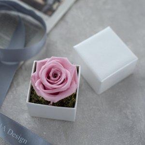 プリザーブドフラワーボックス(一輪・ピンク)/ギフト BD 女性 誕生日