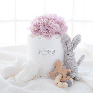 ダイパーケーキ&おもちゃセット(ピンク)/ギフト 出産祝 おむつ
