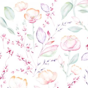 NUANCE FLOWER(ニュアンスフラワー)/転写紙 水彩 ナチュラル 花柄