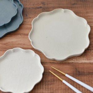 輪花プレート(ホワイト)/食器 お皿 和皿 おしゃれ
