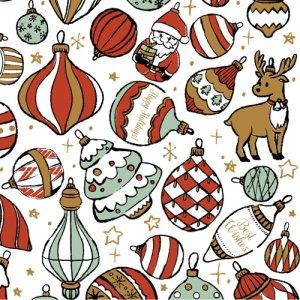 CHRISTMAS ORNAMENT(クリスマスオーナメント)/転写紙 かわいい サンタクロース  ツリー トナカイ