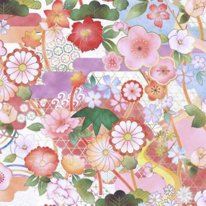KOTOBUKI(コトブキ)/転写紙 和柄 花柄 華やか