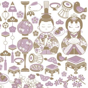 GIRL'S FESTIVAL(ガールズフェスティバル)/転写紙 ひな祭り 女の子 桃の節句