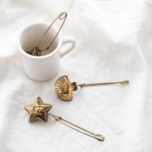 ティーストレーナー(ゴールド)/茶葉用 茶こし お茶 紅茶 ステンレス