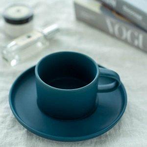 スモーキーカラーカップ&ソーサー(ネイビー)/食器 おしゃれ コーヒーカップ