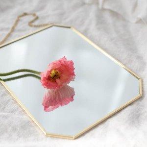 ゴールドリムミラー / サロン 壁掛け 鏡