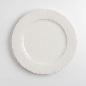 アラベスクプレートL(無くなり次第終了)/白磁 真っ白い食器 お皿