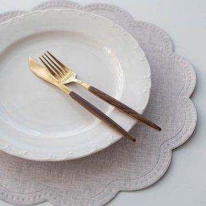 ラウンドクラウドランチョンマト(ピンクグレー)/テーブルウェア おしゃれ