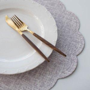 ラウンドクラウドランチョンマット(ホワイトプラム)/テーブルウェア おしゃれ