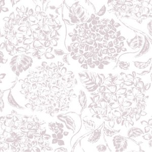 FABRIC  HYDRANGEA(ファブリックハイドランジア・ピンクベージュ)/転写紙 紫陽花 アジサイ 花柄