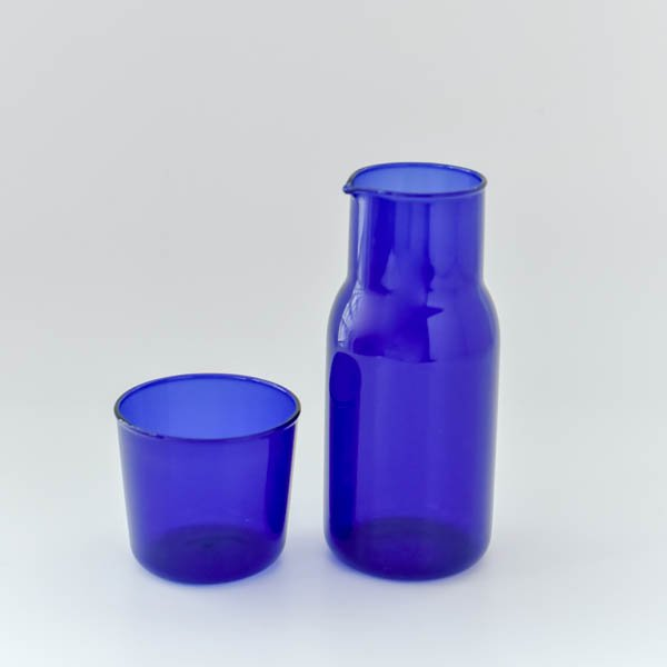 ガラスカップ&ピッチャーセット(ブルー)