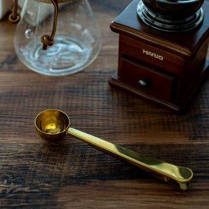 コーヒーメジャースプーン(クリップ付き)(ゴールド)/おしゃれ キッチン用品 計量