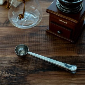 コーヒーメジャースプーン(クリップ付き)(シルバー)/おしゃれ キッチン用品 計量