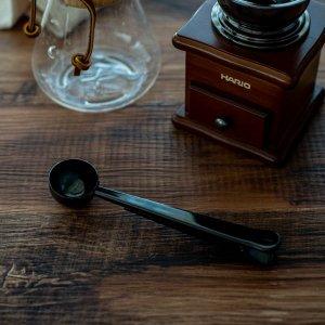 コーヒーメジャースプーン(クリップ付き)(ブラック)/おしゃれ キッチン用品 計量