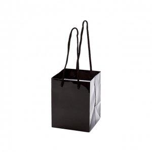 紙袋(ブラック)(S)/ギフト プレゼント 母の日 誕生日