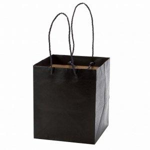 紙袋(ブラック)(M)/ギフト プレゼント 母の日 誕生日