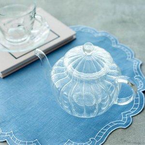 ガラスティーポット(パンプキン)/おしゃれ かわいい 茶器 食器