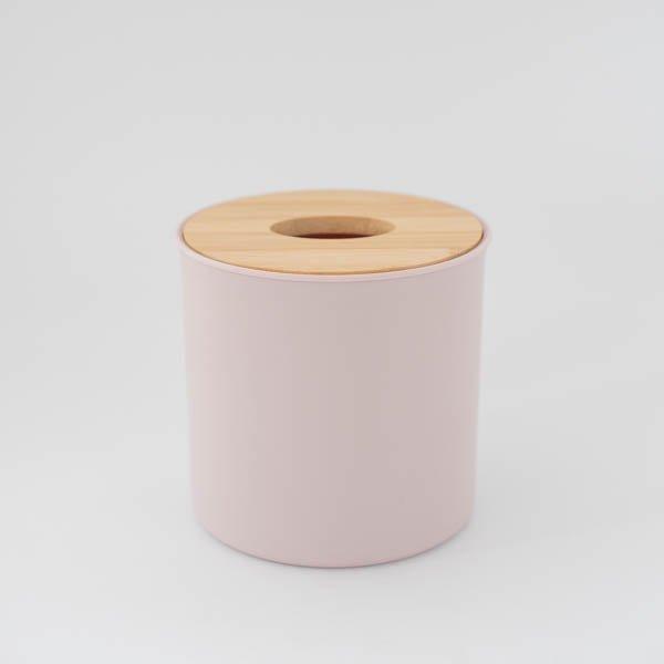 ラウンドティッシュボックス(ピンク)