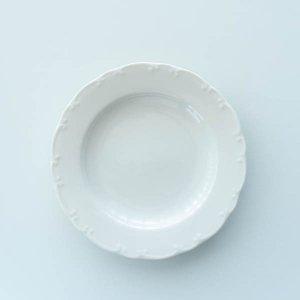 アラベスクプレートS(無くなり次第終了)/白磁 真っ白い食器 お皿