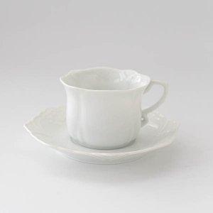 プロシアカップ&ソーサー/白磁 白い食器 コーヒーカップ ティカップ