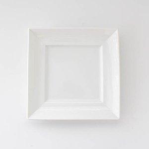 シャープリムスクエアプレート/白磁 ポーセリンアート 食器