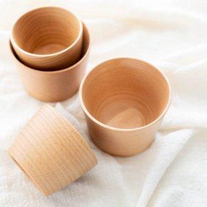 ウッドカップ/カフェ風 ナチュラル 木製 食器 コップ
