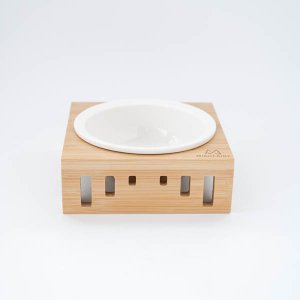 ペットフードボウル(ウッドスタンド)/犬用品 猫用品 キャット ドック  おしゃれ エサ