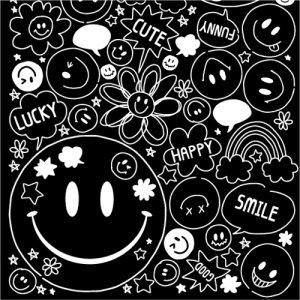 SMILEY FACE(スマイリーフェイス・ホワイト)/転写紙 にこちゃん ニコニコ マーク かわいい
