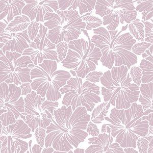TROPICAL HIBISCUS(トロピカルハイビスカス・スモーキーピンク)/転写紙 花柄 南国風 ハワイ おしゃれ