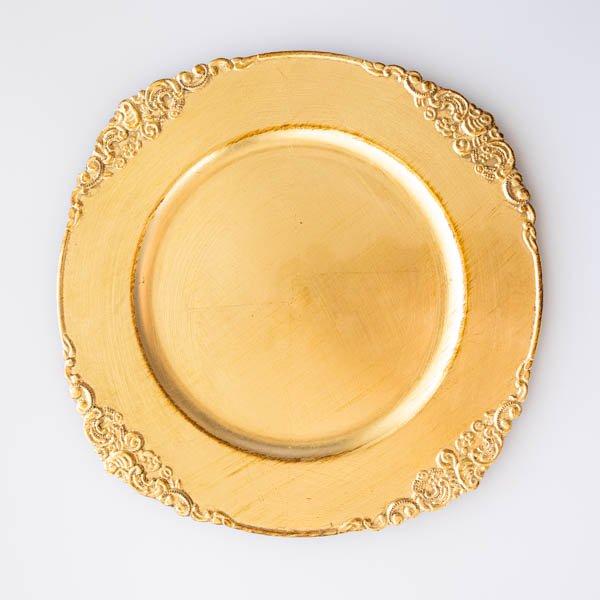 アンティークロイヤルアンダープレート(ゴールド)