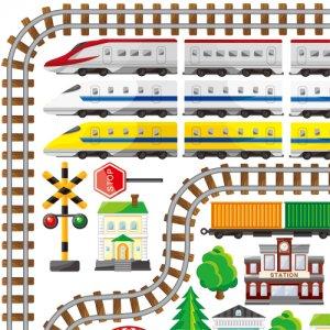 KIDS TRAIN (キッズ トレイン)/転写紙 新幹線 電車 男の子 線路 乗り物