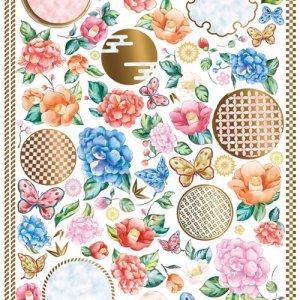 CHINOISERIE PARTS(シノワズリパーツ)/転写紙 和柄 伝統模様 花柄 お正月 ひな祭り