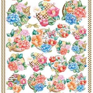 CHINOISERIE CREST(シノワズリ クレスト)/転写紙 和柄 伝統模様 花柄 お正月 ひな祭り