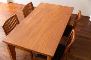 ブロードリーフマホガニー 5枚はぎテーブル   長さ1450mm t-mhg053