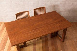 アフリカンマホガニー 一枚板テーブル  長さ1600mm t-mhg056