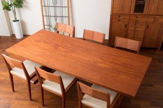 アフリカンマホガニー 一枚板テーブル  長さ2260mm t-mhg047