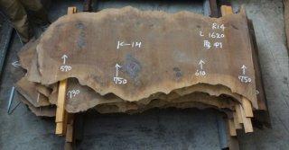 クラロウォールナット 一枚板  長さ1620mm 商品番号(L-R14)